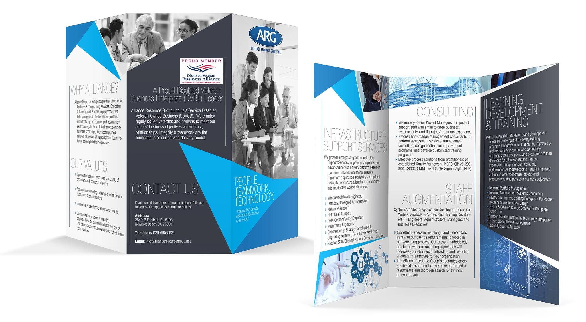 Trifold Design by Search Business Group