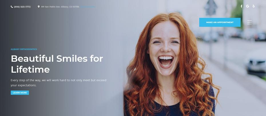 User Interface For Dental Websites