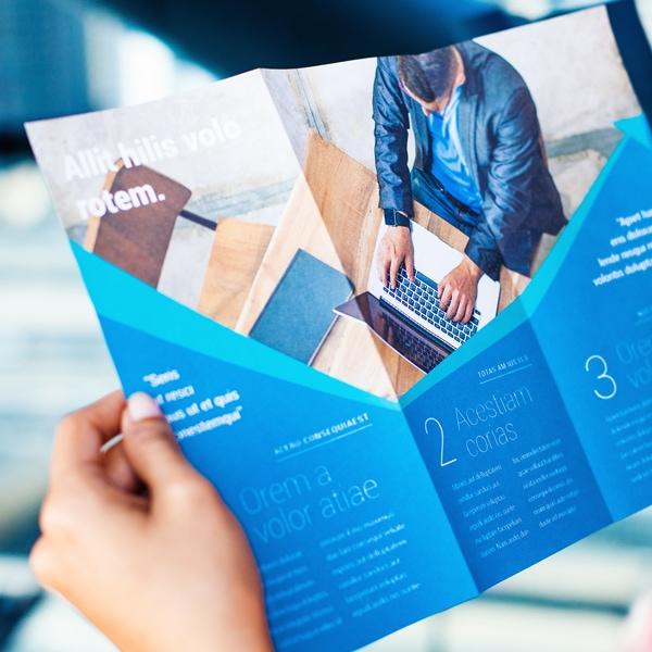 Reading Format in a Marketing Brochure